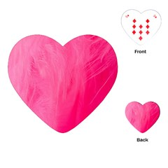 Very Pink Feather Playing Cards (heart)  by Simbadda