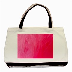 Very Pink Feather Basic Tote Bag by Simbadda