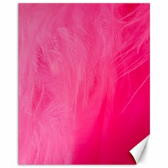 Very Pink Feather Canvas 11  X 14   by Simbadda