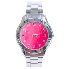 Very Pink Feather Stainless Steel Analogue Watch by Simbadda