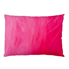 Very Pink Feather Pillow Case (two Sides) by Simbadda