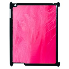Very Pink Feather Apple Ipad 2 Case (black) by Simbadda