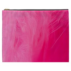 Very Pink Feather Cosmetic Bag (xxxl)