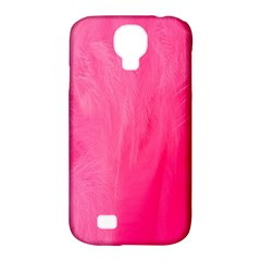 Very Pink Feather Samsung Galaxy S4 Classic Hardshell Case (pc+silicone)