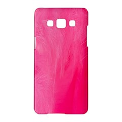 Very Pink Feather Samsung Galaxy A5 Hardshell Case  by Simbadda