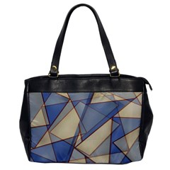 Blue And Tan Triangles Intertwine Together To Create An Abstract Background Office Handbags by Simbadda