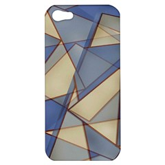Blue And Tan Triangles Intertwine Together To Create An Abstract Background Apple Iphone 5 Hardshell Case