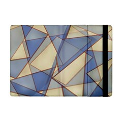 Blue And Tan Triangles Intertwine Together To Create An Abstract Background Apple Ipad Mini Flip Case