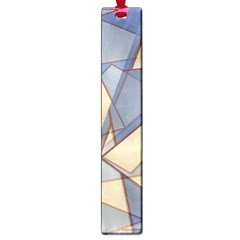 Blue And Tan Triangles Intertwine Together To Create An Abstract Background Large Book Marks
