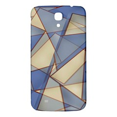Blue And Tan Triangles Intertwine Together To Create An Abstract Background Samsung Galaxy Mega I9200 Hardshell Back Case by Simbadda