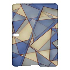Blue And Tan Triangles Intertwine Together To Create An Abstract Background Samsung Galaxy Tab S (10 5 ) Hardshell Case