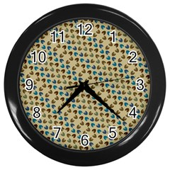 Abstract Seamless Pattern Wall Clocks (black) by Simbadda