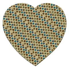 Abstract Seamless Pattern Jigsaw Puzzle (heart)