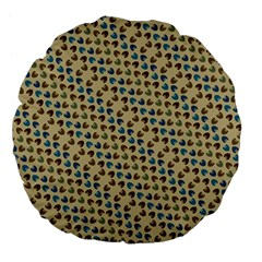 Abstract Seamless Pattern Large 18  Premium Flano Round Cushions by Simbadda