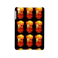 Paper Lanterns Pattern Background In Fiery Orange With A Black Background Ipad Mini 2 Hardshell Cases