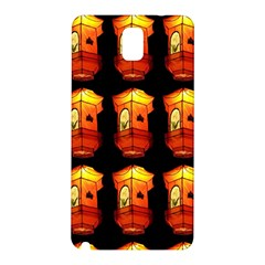 Paper Lanterns Pattern Background In Fiery Orange With A Black Background Samsung Galaxy Note 3 N9005 Hardshell Back Case by Simbadda