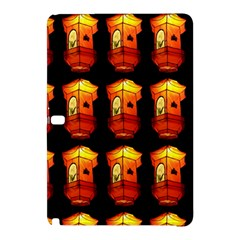 Paper Lanterns Pattern Background In Fiery Orange With A Black Background Samsung Galaxy Tab Pro 10 1 Hardshell Case by Simbadda