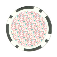 Geometric Abstract Triangles Background Poker Chip Card Guard by Simbadda