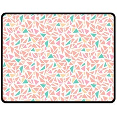 Geometric Abstract Triangles Background Double Sided Fleece Blanket (medium)  by Simbadda