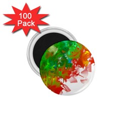 Digitally Painted Messy Paint Background Texture 1 75  Magnets (100 Pack)  by Simbadda