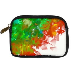 Digitally Painted Messy Paint Background Texture Digital Camera Cases by Simbadda