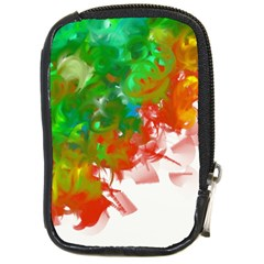 Digitally Painted Messy Paint Background Texture Compact Camera Cases by Simbadda