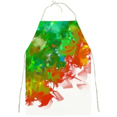 Digitally Painted Messy Paint Background Texture Full Print Aprons by Simbadda