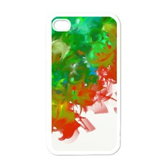 Digitally Painted Messy Paint Background Texture Apple Iphone 4 Case (white) by Simbadda