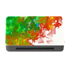 Digitally Painted Messy Paint Background Texture Memory Card Reader With Cf by Simbadda