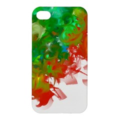 Digitally Painted Messy Paint Background Texture Apple Iphone 4/4s Hardshell Case