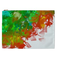 Digitally Painted Messy Paint Background Texture Cosmetic Bag (xxl)