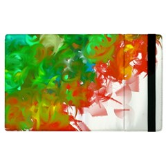 Digitally Painted Messy Paint Background Texture Apple Ipad 3/4 Flip Case by Simbadda