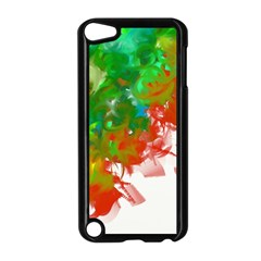 Digitally Painted Messy Paint Background Texture Apple Ipod Touch 5 Case (black)
