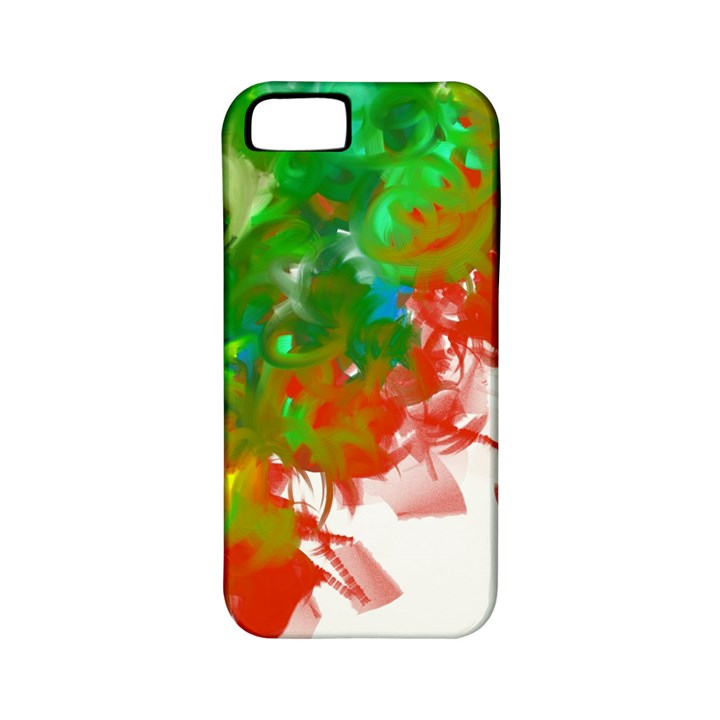 Digitally Painted Messy Paint Background Texture Apple iPhone 5 Classic Hardshell Case (PC+Silicone)