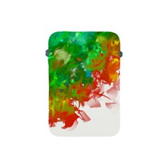 Digitally Painted Messy Paint Background Texture Apple Ipad Mini Protective Soft Cases by Simbadda