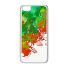 Digitally Painted Messy Paint Background Texture Apple Iphone 5c Seamless Case (white) by Simbadda