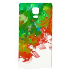 Digitally Painted Messy Paint Background Texture Galaxy Note 4 Back Case by Simbadda