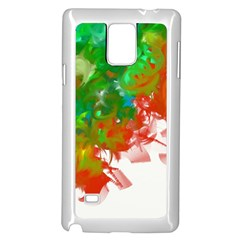 Digitally Painted Messy Paint Background Texture Samsung Galaxy Note 4 Case (white) by Simbadda