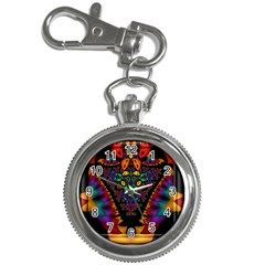 Symmetric Fractal Image In 3d Glass Frame Key Chain Watches