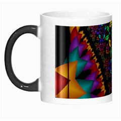 Symmetric Fractal Image In 3d Glass Frame Morph Mugs by Simbadda