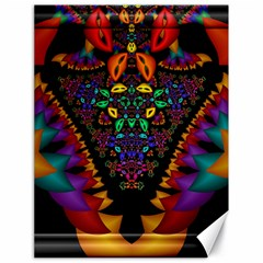 Symmetric Fractal Image In 3d Glass Frame Canvas 18  X 24   by Simbadda