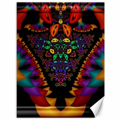 Symmetric Fractal Image In 3d Glass Frame Canvas 36  X 48   by Simbadda