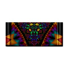 Symmetric Fractal Image In 3d Glass Frame Cosmetic Storage Cases by Simbadda