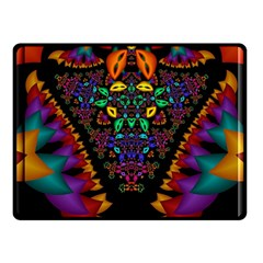 Symmetric Fractal Image In 3d Glass Frame Fleece Blanket (small) by Simbadda