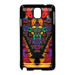 Symmetric Fractal Image In 3d Glass Frame Samsung Galaxy Note 3 Neo Hardshell Case (black) by Simbadda
