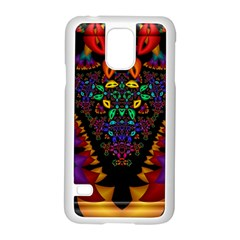 Symmetric Fractal Image In 3d Glass Frame Samsung Galaxy S5 Case (white) by Simbadda
