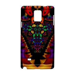 Symmetric Fractal Image In 3d Glass Frame Samsung Galaxy Note 4 Hardshell Case by Simbadda