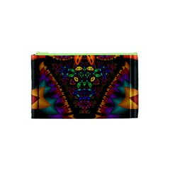 Symmetric Fractal Image In 3d Glass Frame Cosmetic Bag (xs) by Simbadda