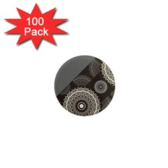 Abstract Mandala Background Pattern 1  Mini Magnets (100 Pack)