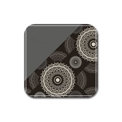 Abstract Mandala Background Pattern Rubber Square Coaster (4 Pack)